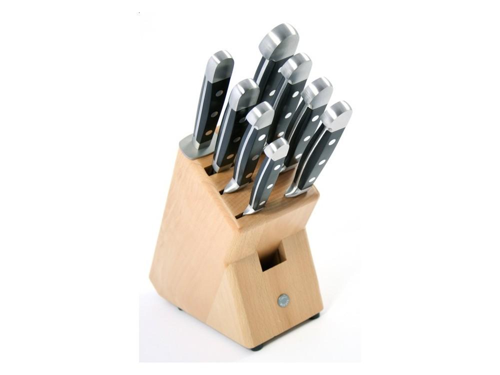 Blok noży Alpha, 9 częściowy