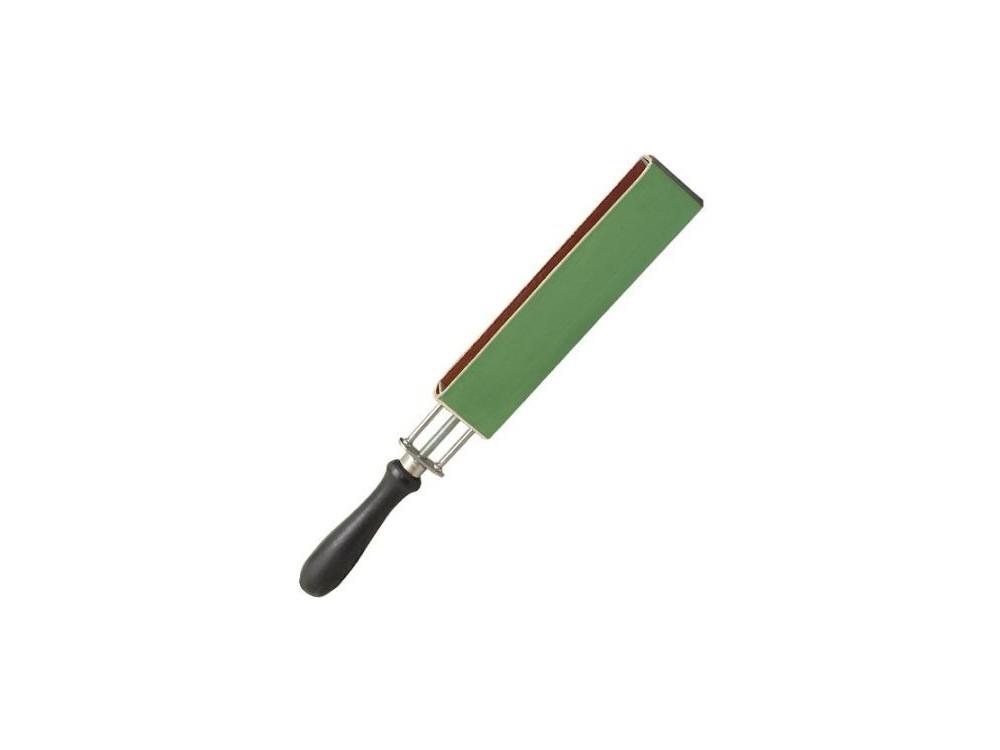 Pas dwustronny napinany 190 x 40 mm naturalno-zielony