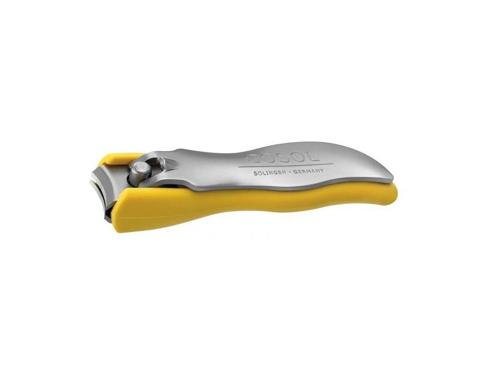 Obcinacz do paznokci 6,5 cm żółty