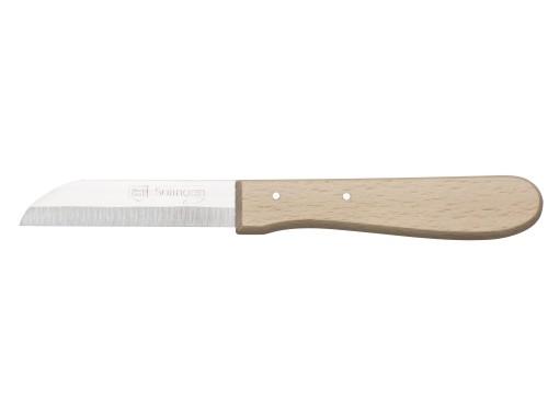 Nóż babuni do obierania 8 cm wiśniowy uchwyt